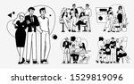 collection of succesfull team... | Shutterstock .eps vector #1529819096