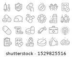 medical drugs line icons.... | Shutterstock .eps vector #1529825516