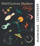 mid century modern party...   Shutterstock .eps vector #1529830649