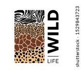 world wildlife day illustration.... | Shutterstock .eps vector #1529843723