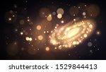 space  galaxy made of golden...   Shutterstock .eps vector #1529844413