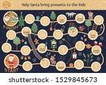christmas adventure board game...   Shutterstock .eps vector #1529845673