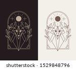 wolf logo emblem vector... | Shutterstock .eps vector #1529848796