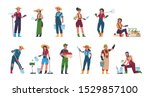 agricultural workers. cartoon... | Shutterstock .eps vector #1529857100