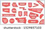 ribbons and banners. sale price ...   Shutterstock .eps vector #1529857103