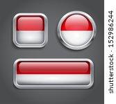 set of  indonesia flag glass... | Shutterstock .eps vector #152986244