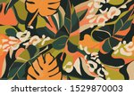 modern exotic pattern with... | Shutterstock .eps vector #1529870003