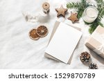 christmas blank greeting card... | Shutterstock . vector #1529870789