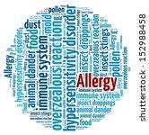 allergy in word collage | Shutterstock . vector #152988458