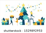 business people decorate... | Shutterstock .eps vector #1529892953