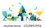 business people decorate... | Shutterstock .eps vector #1529892956