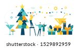 business people decorate... | Shutterstock .eps vector #1529892959