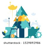 business people decorate... | Shutterstock .eps vector #1529892986