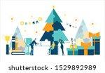 business people working in... | Shutterstock .eps vector #1529892989