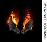 Burning Dragon Wings  Dark...