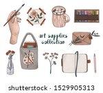 art supplies collection. hand... | Shutterstock . vector #1529905313
