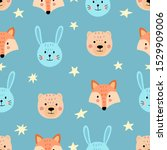 cute seamless pattern with... | Shutterstock .eps vector #1529909006