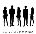 vector silhouettes of  men and... | Shutterstock .eps vector #1529909486