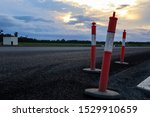 Street Cones On The Road At...