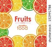 citrus fruit over white... | Shutterstock .eps vector #152991788