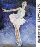 Ballerina  White Swan On The...