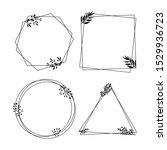 hand drawn collection of...   Shutterstock .eps vector #1529936723
