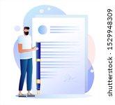 smart digital contract vector...