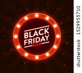 black friday sale   illuminated ... | Shutterstock .eps vector #1529955710