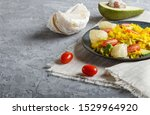 fried pomelo with tomatoes and... | Shutterstock . vector #1529964920