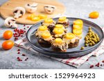 stuffed fried champignons with... | Shutterstock . vector #1529964923