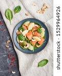fresh salmon with pineapple ... | Shutterstock . vector #1529964926