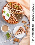 homemade cake with caramel... | Shutterstock . vector #1529965229