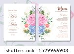 wedding invitation card with...   Shutterstock .eps vector #1529966903