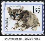 poland   circa 1964  postage... | Shutterstock . vector #152997068