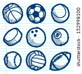 set of hand drawn doodle sport... | Shutterstock .eps vector #152998100