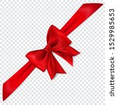 beautiful red bow with... | Shutterstock .eps vector #1529985653