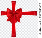 beautiful red bow with... | Shutterstock .eps vector #1529985659
