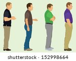 waiting in line | Shutterstock .eps vector #152998664