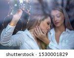 young lesbian blond couple... | Shutterstock . vector #1530001829