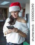 happy young woman online... | Shutterstock . vector #1530002690