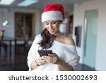 happy young woman online... | Shutterstock . vector #1530002693