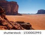High Rocky Cliffs In Jordanian...