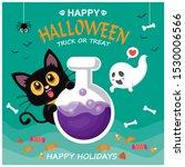 vintage halloween poster design ... | Shutterstock .eps vector #1530006566