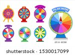 set of spinning whells or... | Shutterstock .eps vector #1530017099