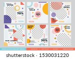 minimalist fashion sale social...   Shutterstock .eps vector #1530031220