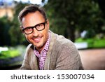 trendy handsome man with... | Shutterstock . vector #153007034