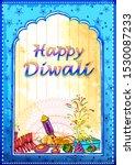 vector design of happy diwali... | Shutterstock .eps vector #1530087233