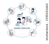 business consulting concept... | Shutterstock .eps vector #1530101663