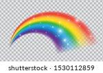 fairytale rainbow icon isolated ... | Shutterstock .eps vector #1530112859