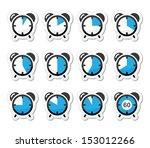 time measure  clock vector... | Shutterstock .eps vector #153012266